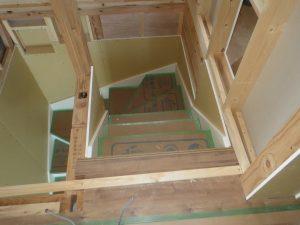 植田邸160816階段施工